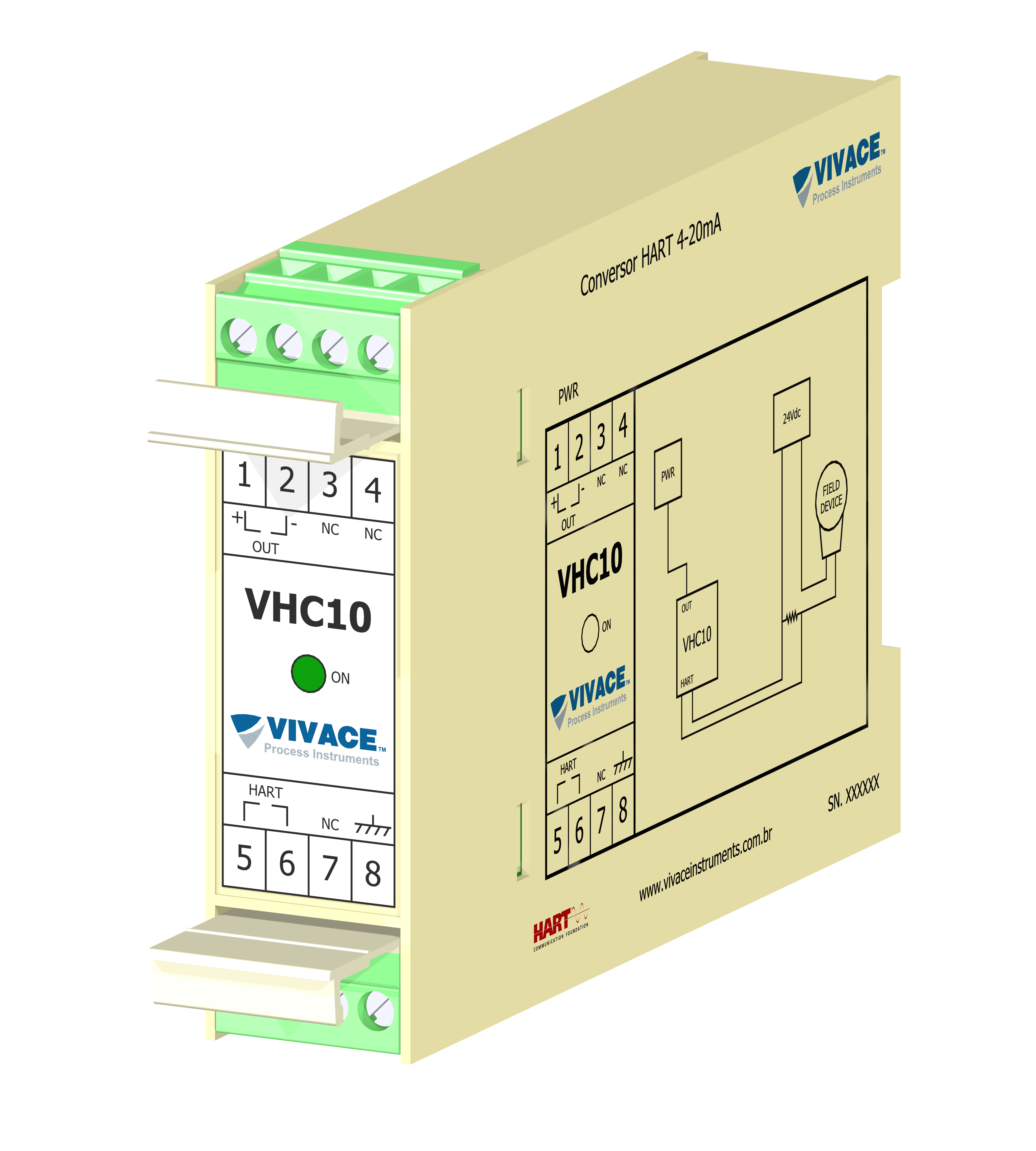 VHC10-P - Conversor Painel HART® para 4-20 mA